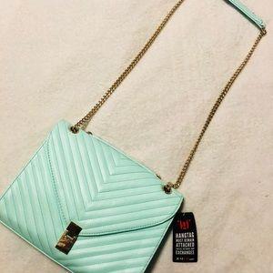 Justfab mint green crossbody purse